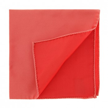 Coral Pocket Square in Silk