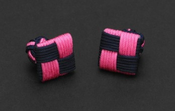 Navy blue/fuchsia Square silk knots - Manila