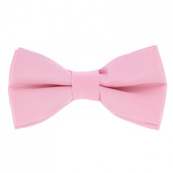 Light Pink Bow Tie in Silk