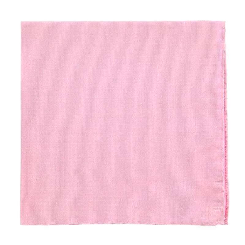 Light Pink Pocket Square in Silk