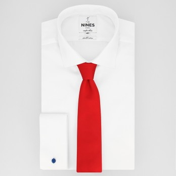 English Red Tie in Silk