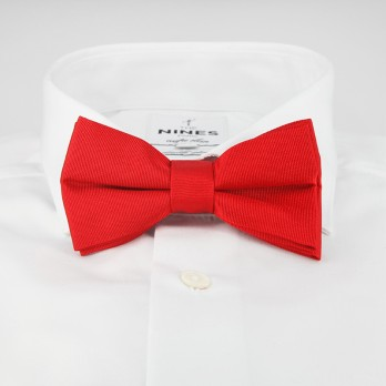 English Red Bow Tie in Silk