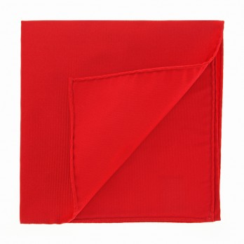 English Red Pocket Square in Silk