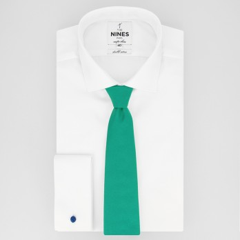 Viridian Green Tie in Silk