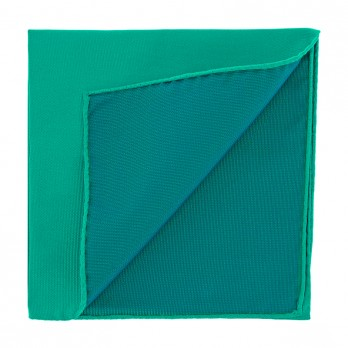 Viridian Green Pocket Square in Silk