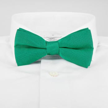 Viridian Green Bow Tie in Silk