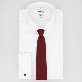 Burgundy Grenadine Silk The Nines Tie - Grenadines IV