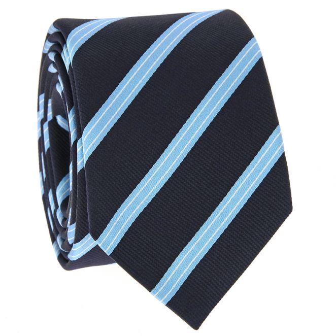 Sky Blue and White Silk Knot Cufflinks