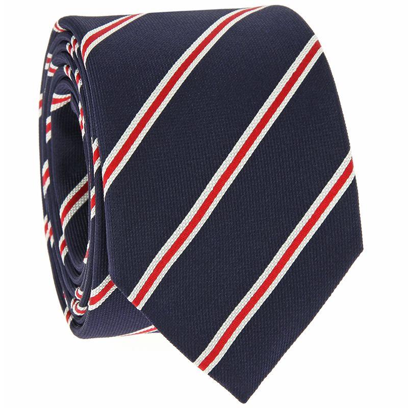 Orange Silk Skinny Tie with White Squares Pattern