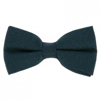 Green Semi Plain Bow Tie in Silk