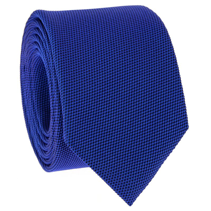 Cobalt Blue Tie in Basket Weave Silk