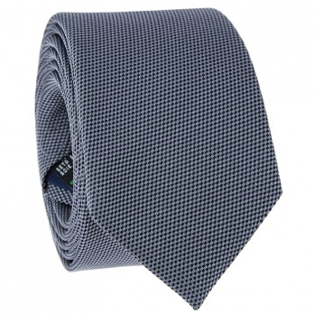 Grey Tie in Basket Weave Silk