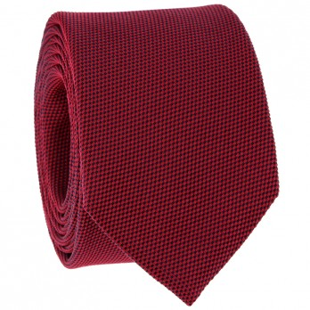 Red Tie in Basket Weave Silk