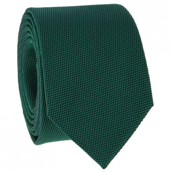 English Green Tie in Basket Weave Silk
