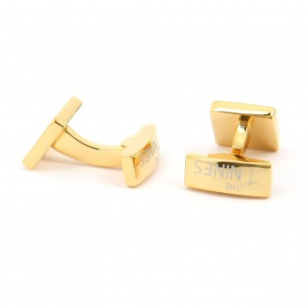 Gold square cufflinks - Kiruna