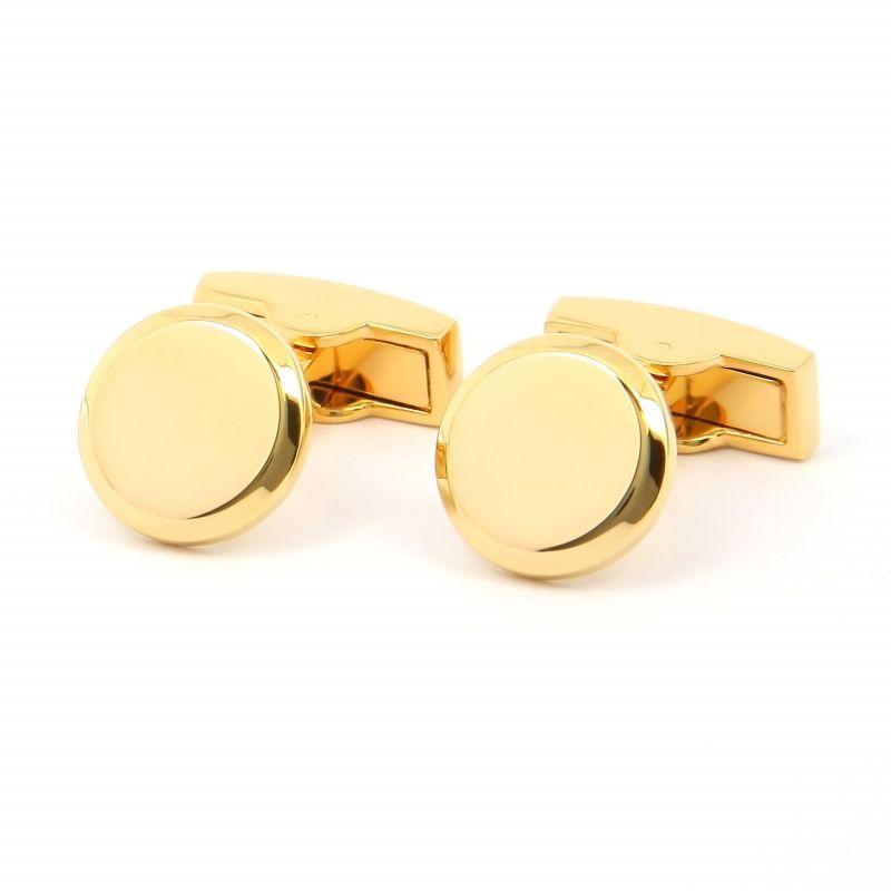 Gold Round cufflinks - Montevideo