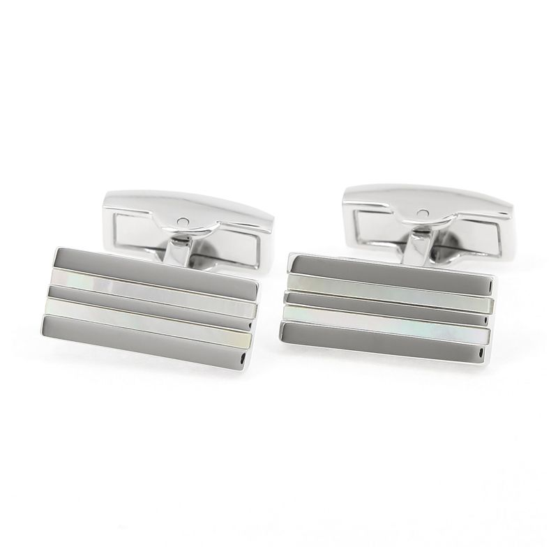Mother of pearl cufflinks - Manhattan