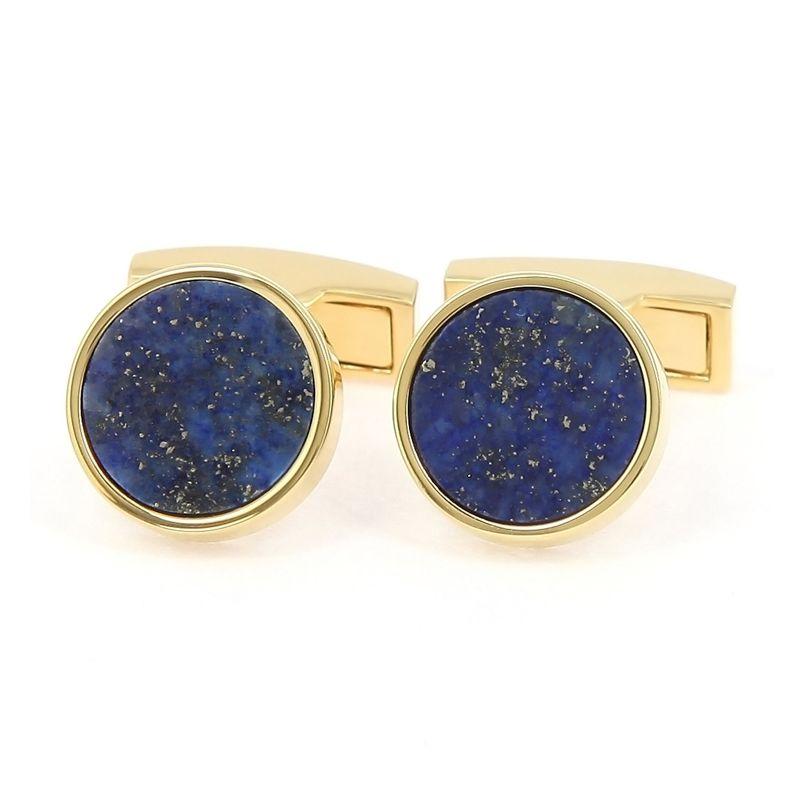 Golden lapis lazuli cufflinks - Vienne