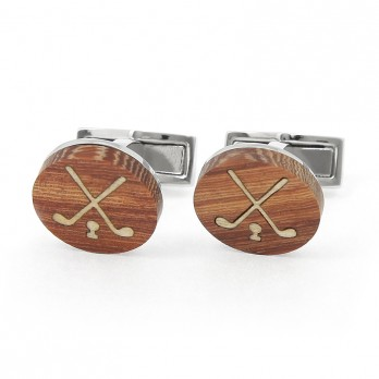Wooden Golf Cufflinks - Bay Hill Club
