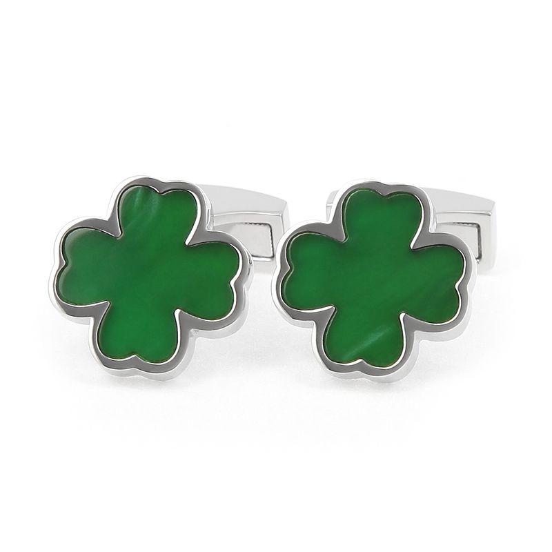 Green Clover Onyx Cufflinks - The Nines