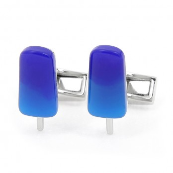 Blue Popsicle Cufflinks