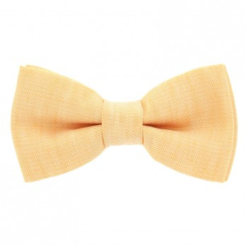 Yellow Bow Tie in Basket Weave Linen and Silk - Bergame