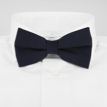 Navy Blue Bow Tie in Silk - Côme