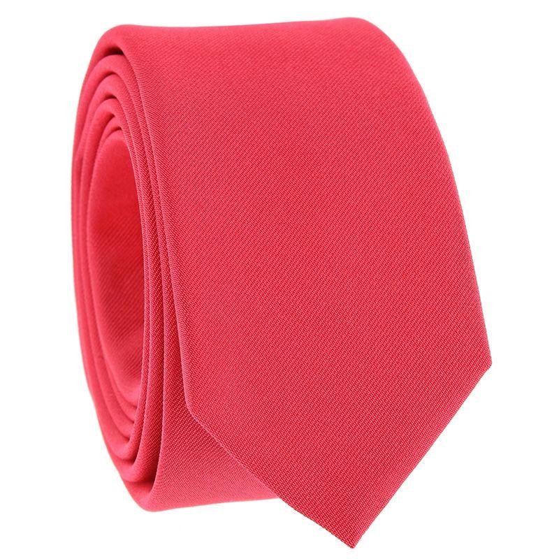 Coral Pink Slim tie in Silk