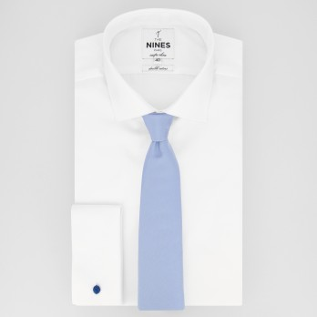 Light Blue Tie in Silk - Côme
