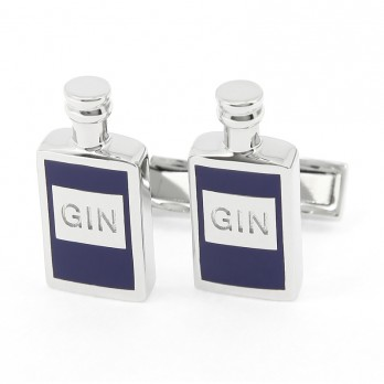 Blue Gin Bottle Cufflinks