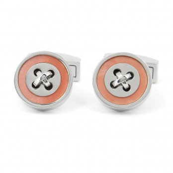 Pearly Pink Button Cufflinks - Baltimore