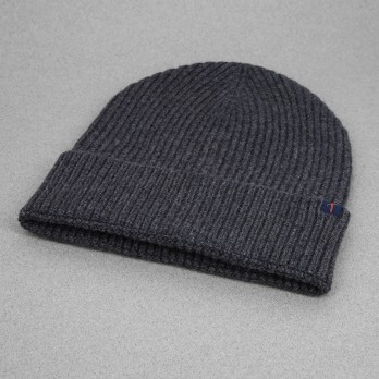 Grey Beanie with Merino Wool and Cashmere