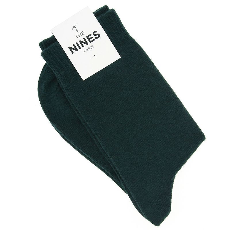 Dark Green Cashmere Socks