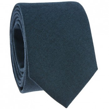 Petrol Blue Wool Flannel Tie