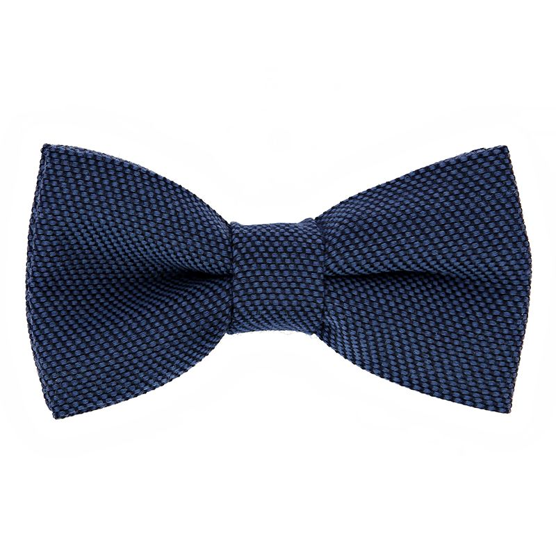 Blue Bow Tie in Silk and Wool