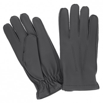 Grey Deerskin Leather Gloves with Cashmere Lining