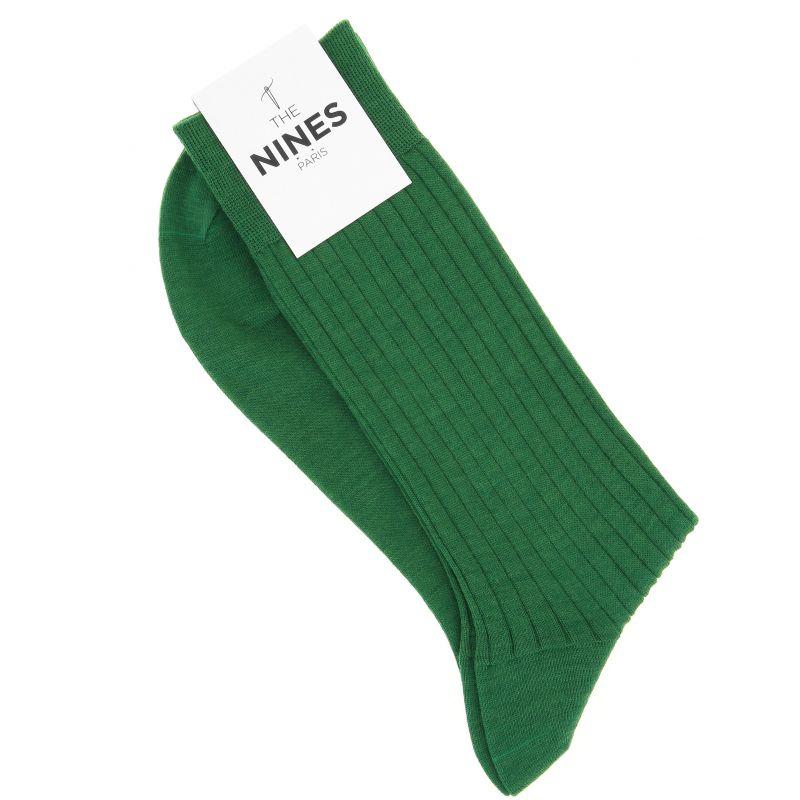English Green virgin wool socks