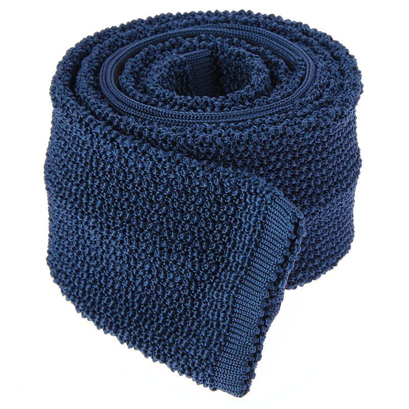 Blue Knit Tie - Crunchy