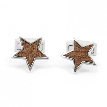 Wooden Star Cufflinks