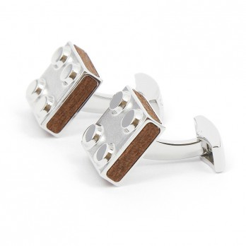 Wooden Brick Cufflinks - Bilund