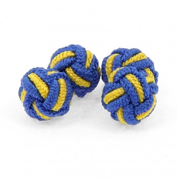 Yellow and blue silk knots - Bombay
