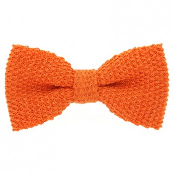 Knit bow tie linen orange