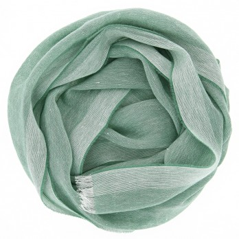 Cashmere linen scarf green