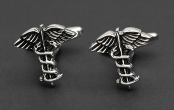 Caduceus cufflinks - Thessaly
