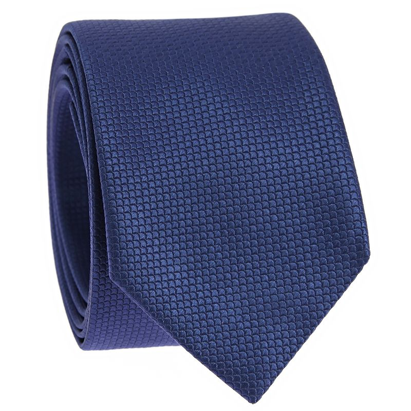 Japanese tie pattern seigaiha in Jacquard silk sapphire blue