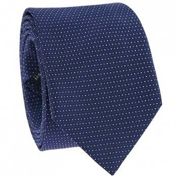 Dotted tie blue and light blue in Jacquard silk