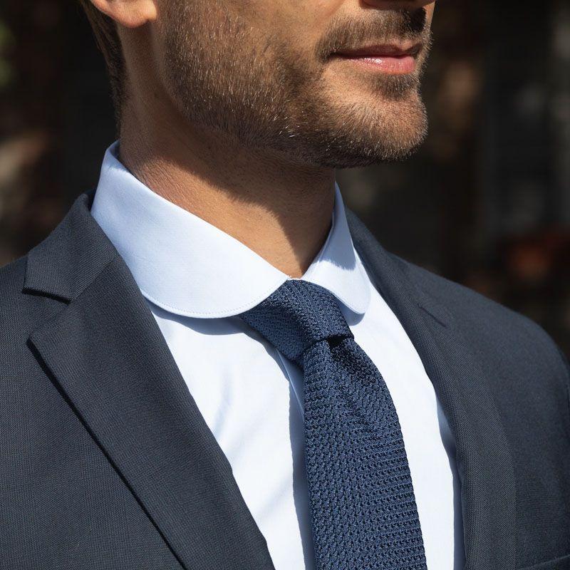 The wrinkle resistant shirt - Club collar light blue