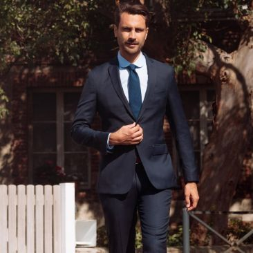 The 4 Seasons Suit - Slate Blue Check