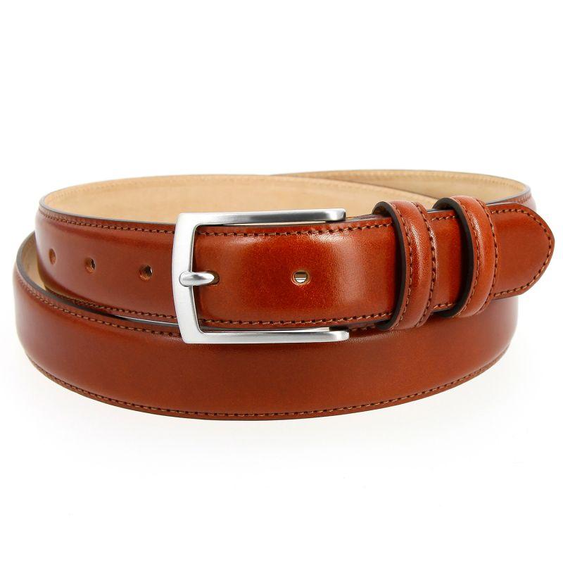 Cognac leather belt - Ugo