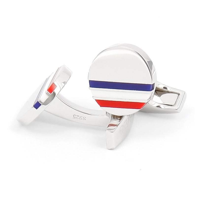 Tricolor sterling silver cufflinks - Cezembre